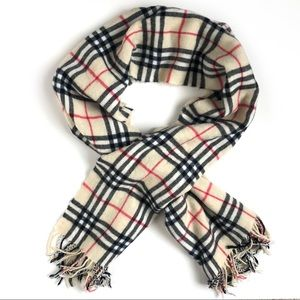 Accessories - Heritage Check Oversized Scarf Cream Red and Black
